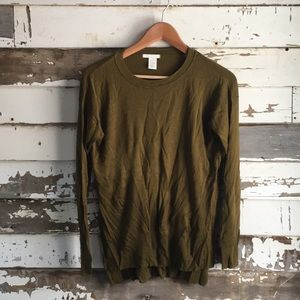 Olive long sleeve light sweater